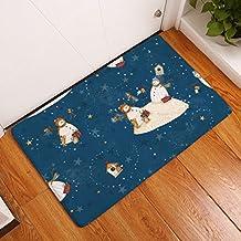 BUKUANG Muñeco De Nieve Digitales Esteras De Impresión Cocina Baño Baño Estera Absorbente Antideslizante Tira De La Alfombra,15-40*60cm