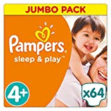 Pampers Sleep & Play strato 64 Pezzi Dimensioni 4 + Maxi + immagine