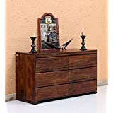 RIDDHI SIDDHI HOME DECOR Solid Sheesham Wood Walnut Finish Sideboard 6-Drawer Cabinet for Living Room and Kitchen