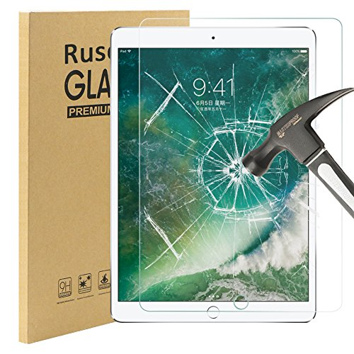 iPad Pro 10.5 Panzerglas Schutzfolie, Rusee 9H Gehärtetes Glas Panzerglasfolie Hartglas Displayschutz Schutzglas Displayschutzfolie für iPad Pro 10.5 Zoll 2017, Anti-Kratzen, Anti-Öl, Anti-Bläschen