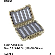 Brand New Aventik impermeabile di plastica Fly Fishing box 12,7 x 9,7 x 3,8 cm (128 x 96 x 38 mm) FB022SA
