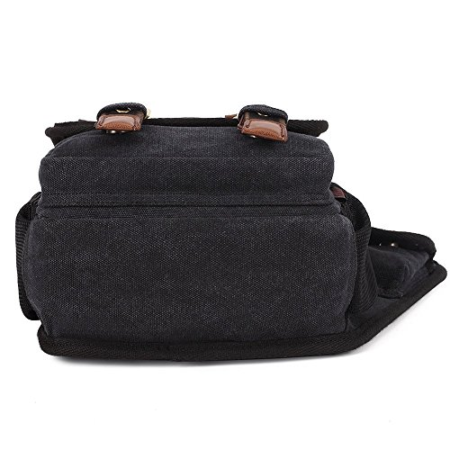 Classic Canvas Schultertaschen Cross-body Bags Stylish Portable Sling Bag Traveling Daily Bags Best Gift for Boyfriend Black by KAUKKO (F385 black) Schwarz01