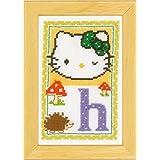 Vervaco - Kit para cuadro de punto de cruz, diseño de Hello Kitty con la letra H, multicolor