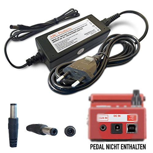 Pedal Acoustic Tuner Guitar (ABC Products® Ersatz Boss / Roland Netzteil Netzgerät PSU PSA-230ES, PSA-230S, PSA-240, 9V / 9 Volt / 200 Mah für Effektpedale / Pedale / Pedal (Modelle unten angegeben) 3 Meter lang)