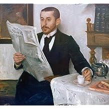 """Kunstdruck / Poster: Lovis Corinth """"Bildnis des Malers Benno Becker"""" - hochwertiger Druck, Bild, Kunstposter, 60x55 cm"""