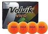 Volvik Unisex Vivid Golf Balls, Sherbert Orange, One Dozen