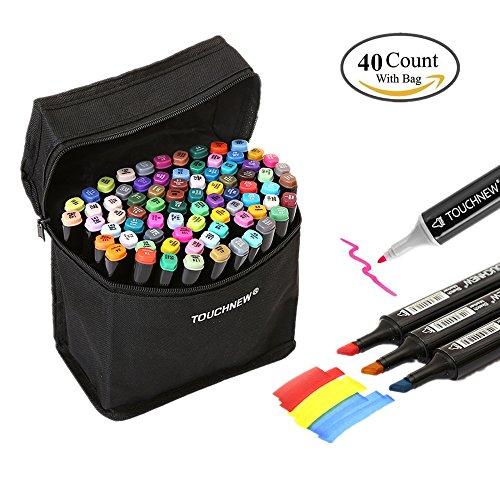 togood 40verschiedene Farben Art Sketch Twin Marker Stifte, Dual Tipps breiten Fine, Profi Marker Set für Färben Malerei Manga Design Kids und Erwachsene