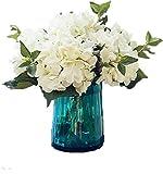 LNHOMY Lannu Fleurs artificielles hortensias en Soie Faux Bouquet Fleur pour Maison Mariage Décoration Murale Lot de 3
