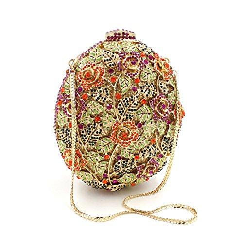 Frauen-Luxuxkristalldiamant-Abendbeutel-Kettenhandtasche OneColor