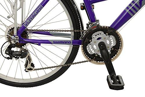 516ULdDNugL - Falcon Women's Voyager Hybrid Bike-Purple, 12 Years