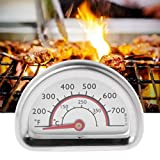 Cuigu Bimetall Thermometer, Bimetall Grill Thermometer JX-6B-2 Edelstahl-Thermometer-Wärmeanzeige-Heizungs-Messgerät BBQ Für Grill