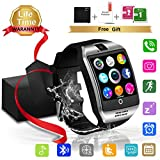 Smartwatch Uomo Donna Android ios, Smart Watch Bluetooth con Camera Touchscreen Supporta Sim Tf...