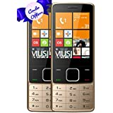 I KALL K6300 Dual Sim 2.8 Inch Display Basic Feature Mobile Phone COMBO OF TWO With Bluetooth, GPRS, Flash Light, 1800 Mah Battery Capacity- Golden & Golden