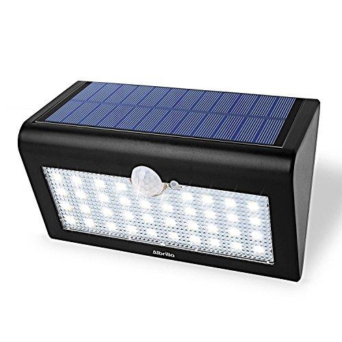 Albrillo LED Solarleuchte mit bewegungsmelder IP65 38 superhelle LEDs in 3 Modi
