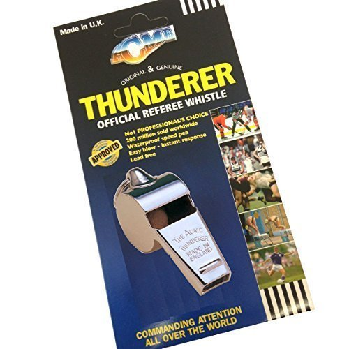 Acme Thunderer 60.5 Offizielle Schiedsrichter Pfeife - Fußball Hockey Rugby Schiedsrichter Pfeife