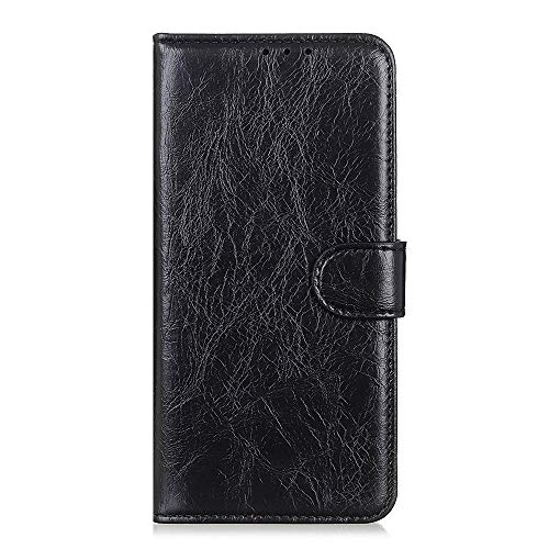 Banazi custodia compatibile per xiaomi redmi note 8, cover flip cover a libro, custodia portafoglio per xiaomi redmi note 8, nero