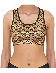 830bdc87ba6916 Lannister Reggiseno Sportivo da Donna Alto Effetto Ad Pesce Scala Mermaid  Abbigliamento Festivo Abbigliamento Festivo Allenamento