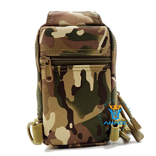Multifunktions Survival Gear Tactical Beutel MOLLE Beutel Messenger Tasche Brust Tasche, Outdoor Camping EDC ID Kreditkarte Brieftasche Schultertasche Taille-Tasche Handytasche CP