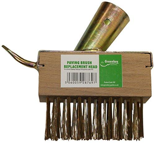 Greenkey Tête de Rechange pour Balai-Brosse télescopique Nettoyeur de Jardin
