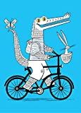 The Crococycle - stampa d'arte Animal