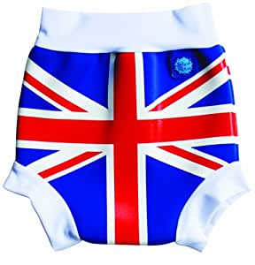Splash About Kids Reusable Swim Nappy - THE Happy Nappy - Union Jack Print, Large, 6-14 Months