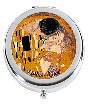 Taschenspiegel,-Gustav Klimt 'Der Kuss'