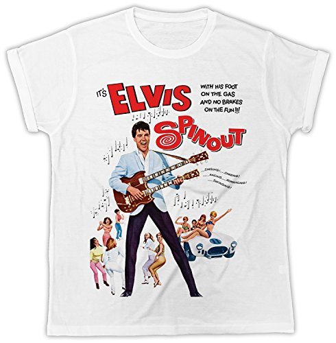 Elvis T-shirt Mugshot (Elvis Mugshot Spinout Movie Poster Cooler Spruch, Slogan, Lustiges Design, Geschenkidee)