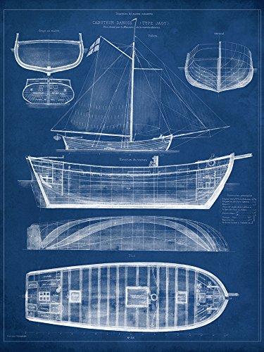 Artland Qualitätsbilder I Poster Kunstdruck Bilder 45 x 60 cm Fahrzeuge Boote Schiffe Illustration...