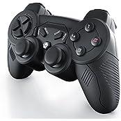 CSL – Wireless Gamepad für Playstation 3   USB Joypad Controller   Modell 2016   Dual Vibration   Plug & Play   LED-Anzeige   schwarz