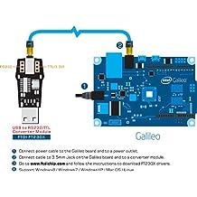 USB A RS232/TTL convertidor Módulo con FTDI ft230X USB-serie Rs232puerto serie (3,5mm Jack) para Intel Galileo serie programador/depuración