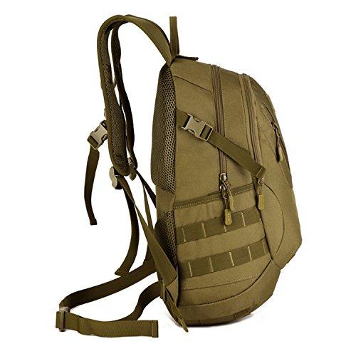 SUNVP 20L Taktischer Rucksack Molle Military Assault Rucksack Student Schultasche Army Surplus Gear Daypack zum Wandern Camping Running Trekking Outdoor Sport Wüste Camouflage Brown