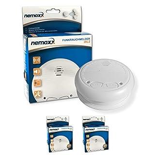 2x Nemaxx WL2 Wireless Smoke Detector - in accordance with EN 14604