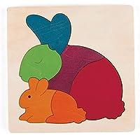 Hape - Puzzle encajable infantil arcoíris Conejo (Barrutoys E6504)