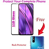 ShopeeQ™ 6D Tempered Glass for Vivo V15 Pro Full HD 9H Hardness Screen Protector