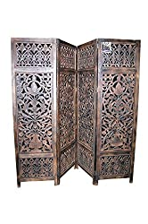National Handicrafts 72 x 80 Mango Wood / MDF Screen Partition / Room Divider / Zafri