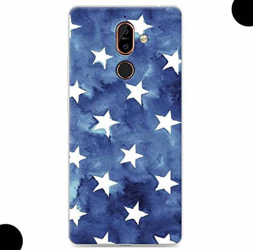 WEIFA 2017 New Nokia105 Soft Case, Very Light Slim Artist Special Stars Flag Picture Style, 2018 Newest Thin Anti-Scratch Cellphone Cover Case for 2017 Nokia 105