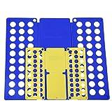 Songmics® 2er Set Flip & Fold Wäsche Faltbrett Hemdenfalter Wäschefalter Kinder und Erwachsen-Faltrett Verschiedene Farben schnell und einfach (Blau/gelb) LCF001