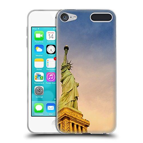 Head Case Designs Offizielle Haroulita Freiheitsstatue Orte 2 Soft Gel Hülle für Apple iPod Touch 6G 6th Gen -