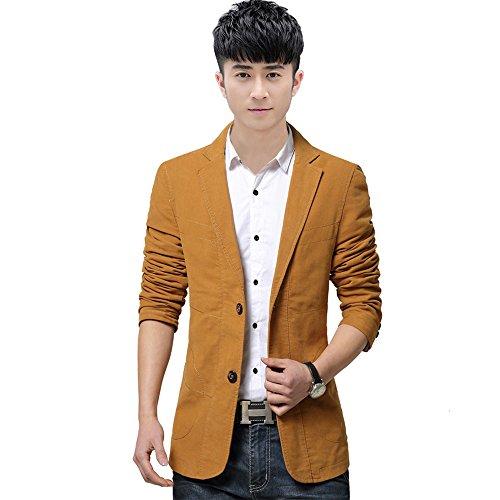 im Anzug, Herbst und Winter, koreanische Mode Herren Anzug, männer - Mantel, selbst den Jungen männer Anzug,Khaki,XXXL