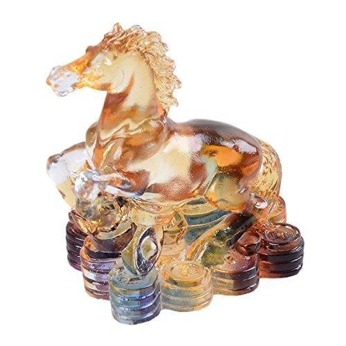 Longwin cristal símbolo chino piedra tallada figura decorativa adorno