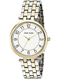 Anne Klein Women's AK/2701WTTT Easy To Read Dial Two-Tone Bracelet Watch