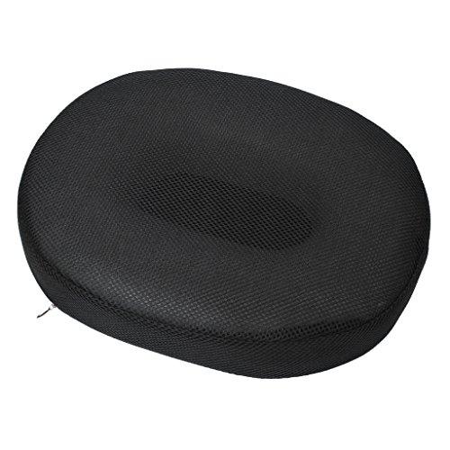 Sharplace Mousse De Surpression Coussin De Siège Anneau Ovale + Housse Lavable De Maillage D'air - Noir