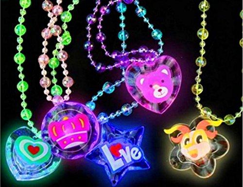 ristall Stern Halskette Anhänger Orgie Spielzeug Party leuchtende Weihnachtsfarben (Stil zufällig) ()