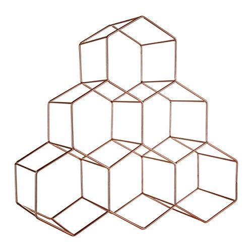 Premier Housewares Rombus Aufbewahrung Kanister, quadratisch, Crememetall, Bambus Deckel