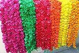 Nexxa Lot de 5 guirlandes de soucis artificielles de 1,5 m de Long pour Une Utilisation dans Les fêtes, Les Mariages Indiens, Les événements sur Le thème de l'Indien, Les décorations, la Maison
