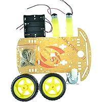 Caja de batería 2WD de la batería del codificador de la velocidad del kit del coche del robot elegante del motor para Arduino