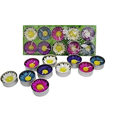 10 Handmade Fairtrade Scented Water Lily Tealight Candle Gift Set by Hana Blossom