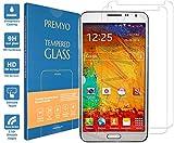 PREMYO 2 Stück Panzerglas für Galaxy Note 3 Schutzglas Display-Schutzfolie für Note 3 Blasenfrei HD-Klar 9H 2,5D Echt-Glas Folie kompatibel für Note 3 Gegen Kratzer Fingerabdrücke