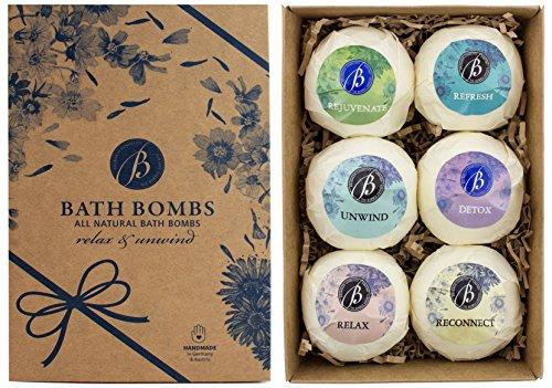 BRUBAKER Cosmetics Bombe da bagno 'Relax and Unwind' - Set da 6 pezzi - vegane, fatte a mano, senza glutine e parabeni