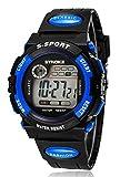 Kinderuhr Sport Wasserdichte Elektronische UhrJunge Kursteilnehmer-Uhr-blau